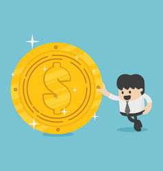 concept of competition gold coin on background vector image
