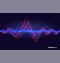 Concept sound abstract colorful wave element vector