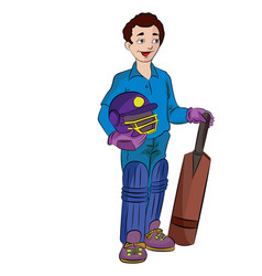 Cricket player vector