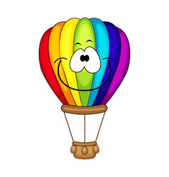 cute cartoon air balloon vector image