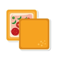 Delicious sandwich isolated icon vector