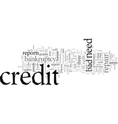 Easy steps to credit repairs vector