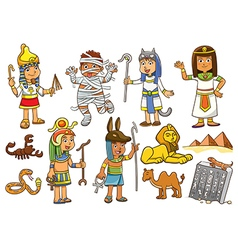 Egypt child cartoon character vector