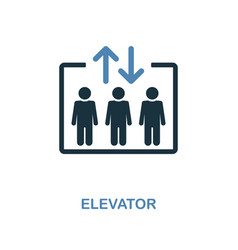 elevator icon monochrome style design from vector image