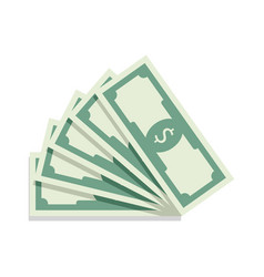 Fan of banknotes vector