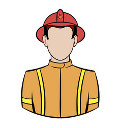 Fireman icon cartoon vector