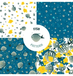 Fish pattern set vector