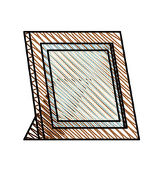 Frame photo wooden image vector
