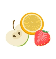 Fruit flavor icon cartoon style vector