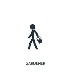 Gardener with bucket icon simple gardening vector