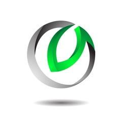 Glossy technology logo icon vector