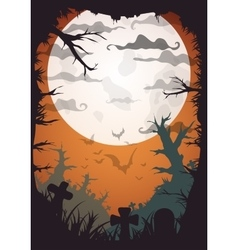 Halloween party orange old movie style poster vector