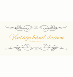 Hand drawn flourish vintage text divider vector