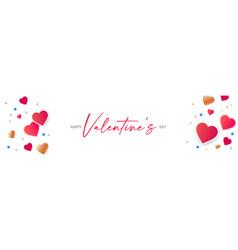 happy valentines day congratulation design with vector image