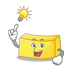 Have an idea butter mascot cartoon style vector