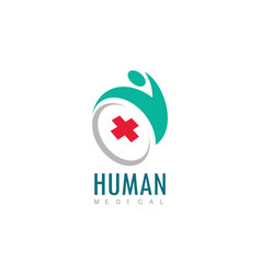 human medical logo vector image