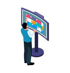 Interactive information panel vector
