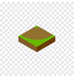 Isolated sand isometric turn element ca vector