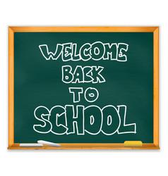 isolated school chalckboard vector image