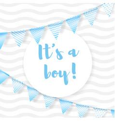 Its a boy vector