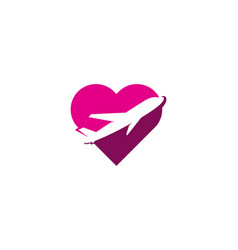 journey love logo icon design vector image