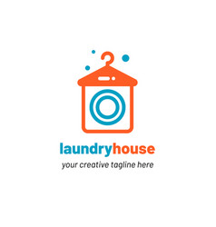 laundry house logo vector image