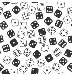 Leisure dices gamble gaming monochrome vector