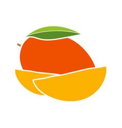 Mango glyph color icon vector