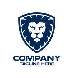 modern lion in shield and security logo vector image