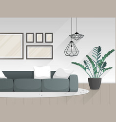 modern living room interior with furniture vector image