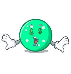 money eye circle mascot cartoon style vector image