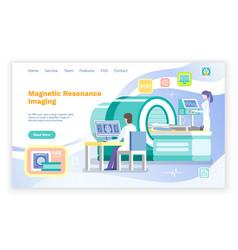 Mri magnetic resonance imaging patient web vector