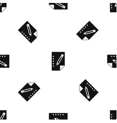 notebook pattern seamless black vector image