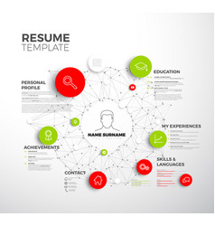 Original minimalist cv resume template vector