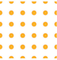 pattern with slices of orange vector image