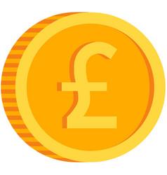 Pound coin icon british money sign gold vector