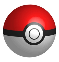 Realistic 3D PokeBall vector
