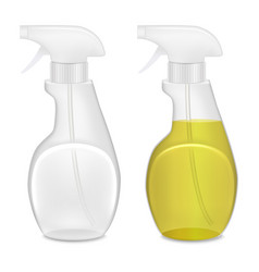 Realistic template blank white bottle spray set vector