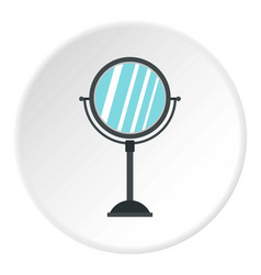 Round mirror icon circle vector