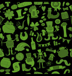 saint patrick day seamless pattern for your vector image