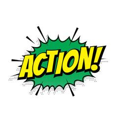 Sale action shopping comic text speech bubble vector