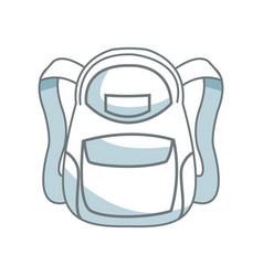 school backpack bag accessory fashion vector image