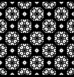 seamless pattern black and white ornamental vector image