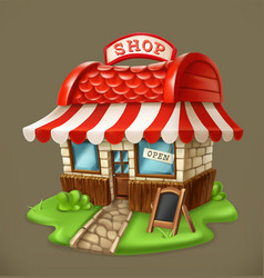 Shop 3d icon vector