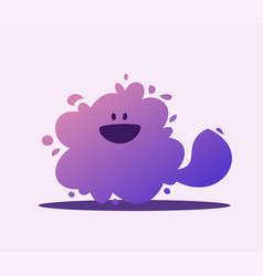 small cute abstract dog cartoon vector image