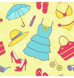 Summer womens clothing vector