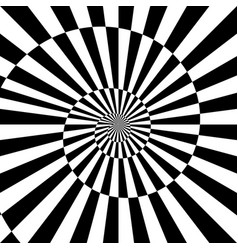Sunburst black white background with spiral vector