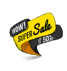 super sale up to 50 off vector image