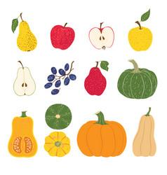 sweet harvest fruit and vegetables vector image