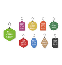 tag with price label for gift or luggage hang vector image